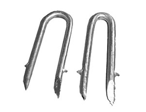 U Shape Hooped Fence Staple Nails with Barbed Shank